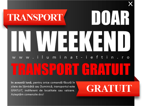 anunt transport gratuit weekend