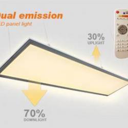 Montaj panou LED cu telecomanda si dubla fata