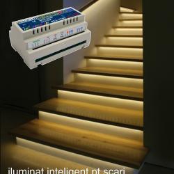 Variante de montaj pentru controler iluminat trepte