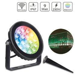 Proiector LED RGBW inteligent 9W