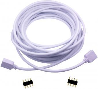 Cablu prelungire RGB cu conectori 5m