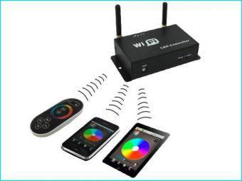 Controler RGB WiFi cu telecomanda