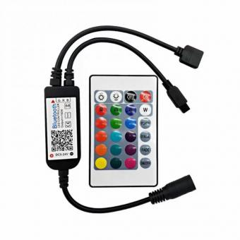 Controler RGB bluetooth cu telecomanda IR
