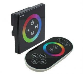 Controler RGB de perete cu telecomanda