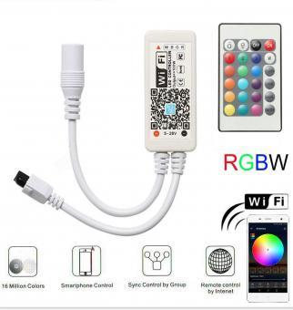 Controler RGBW SMART WiFi cu telecomanda IR
