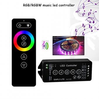Controler RGBW muzical cu telecomanda RF