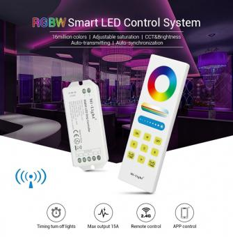 Controler cu telecomanda touch RGBW SMART