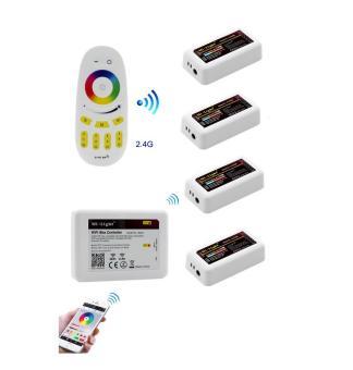 Kit telecomanda RGBW 4 zone WiFi