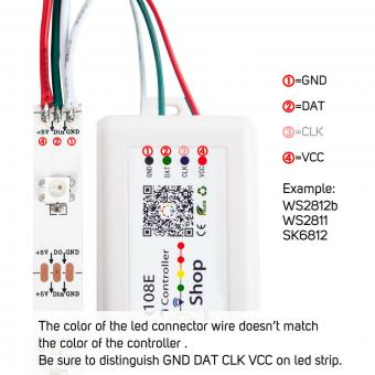 Controler RGB WiFi banda digitala SP108E