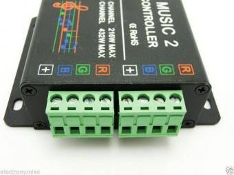 Controler RGB muzical cu telecomanda RF