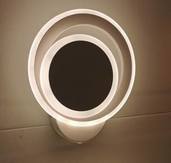 Aplica LED de perete 3 functii cu intrerupator Alba