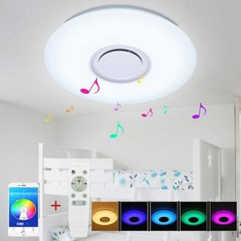 Aplica LED dimabila RGB cu difuzor bluetooth