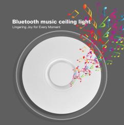 Aplica LED dimabila RGB cu difuzor bluetooth si telecomanda