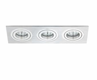 Rama spoturi LED 3 socluri PREMIUM argintie