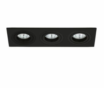 Rama spoturi LED 3 socluri PREMIUM neagra