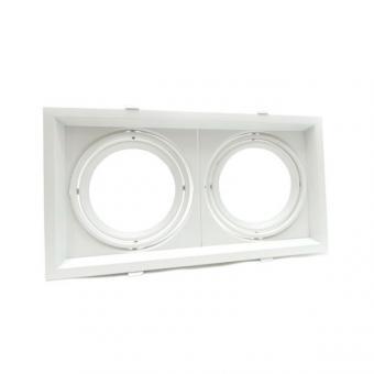 Rame de montaj spot LED orientabil 2 x AR111
