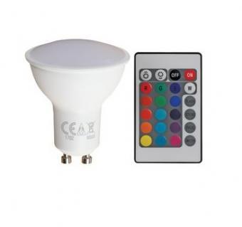Spot LED RGBW cu telecomanda