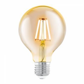 Bec LED filament G80 amber