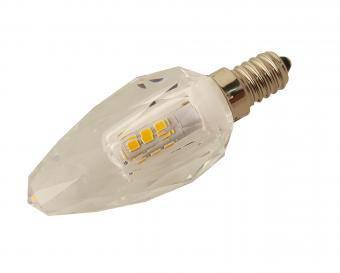 Bec LED tip lumanare cristal