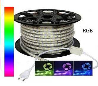 Banda LED RGB 220V 60 buc-m impermeabila