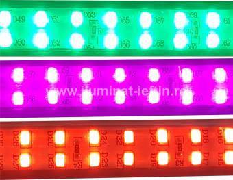 Banda LED color dubla 220V 2835 180buc-m
