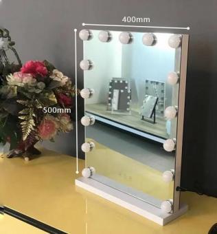Oglinda cu led machiaj 3 culori senzor tactil dimabila