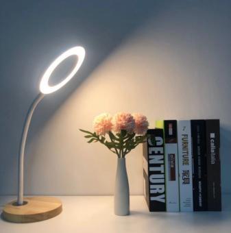 Veioza LED cu lemn Alba