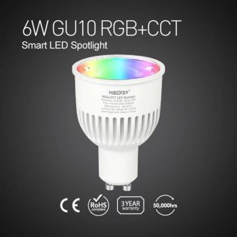 Bec LED inteligent GU10 RGBW MiLight 6W