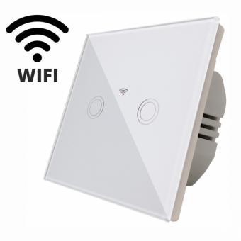 Intrerupator dublu smart WiFi compatibil Alexa Google Home