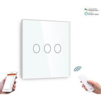 Intrerupator triplu smart WiFi compatibil Alexa Google Home