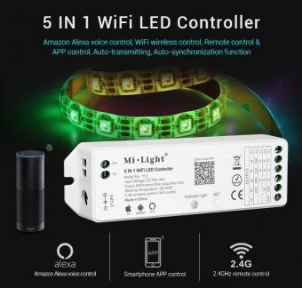Kit 2.5m Banda inteligenta LED RGBWW si controler