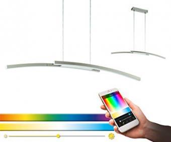 Lustra LED SMART RGB CCT cu telecomanda EGLO compatibil ALEXA