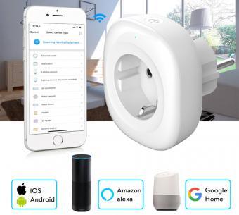 Priza inteligenta 10A cu USB compatibil Google Home Alexa