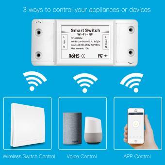 Intrerupator si releu wireless 10A WiFi compatibil Alexa Google Home