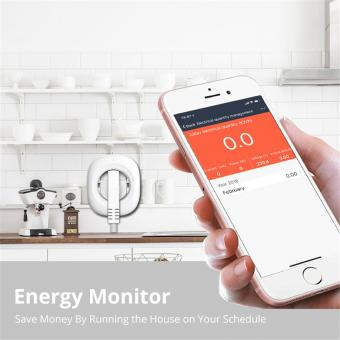 Priza inteligenta 16A cu monitorizare compatibil Google Home Alexa