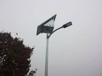 Stalp solar stradal complet echipat
