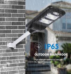 Lampa iluminat stradal cu panou fotovoltaic si telecomanda