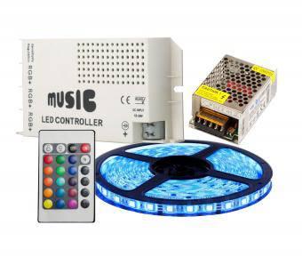 Kit banda led RGB muzical 5m