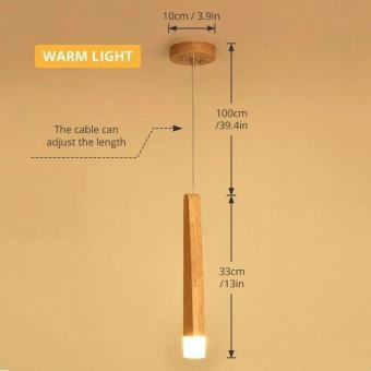 Lustra LED decor lemn 1 pendul