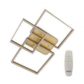 Lustra LED dimabila cu telecomanda 3 functii Gold