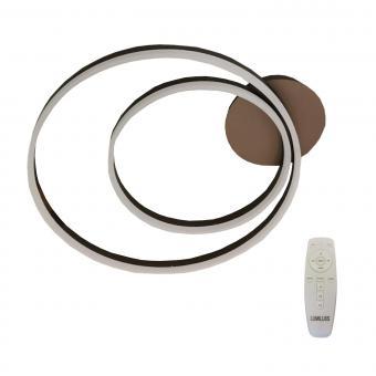Lustra LED dimabila cu telecomanda 3 functii Maro