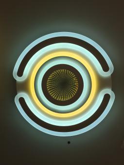 Lustra LED dimabila cu telecomanda 3 functii mirror