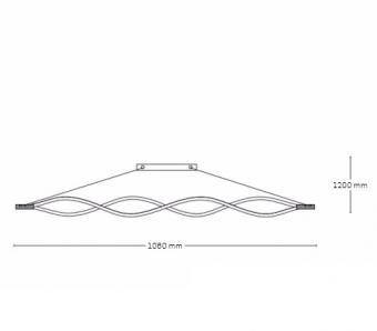 Lustra LED cu telecomanda 3 functii Mirage