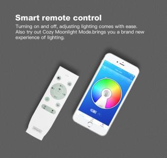 Lustra LED dimabila RGB cu difuzor bluetooth si telecomanda