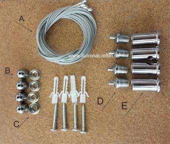 Set tiranti montaj panou LED