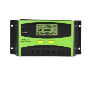 Controler de incarcare 30A PWM cu LCD si USB