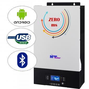 Invertor hibrid unda pura 3000W cu regulator MPPT 60A si transfer 0ms