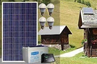 Kit fotovoltaic cu invertor si acumulator
