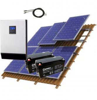 Sistem fotovoltaic 1.5 kWp hibrid cu acumulator