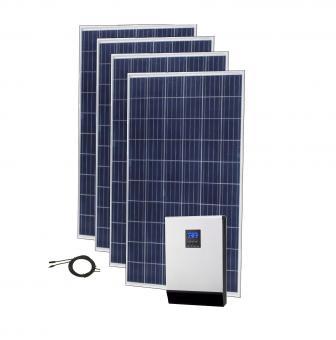 Sistem fotovoltaic ECO 1kWp cu invertor hibrid